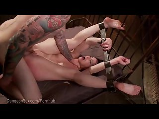 Bella rossi viciously bound and fucked