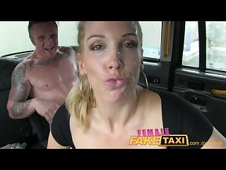 Femalefaketaxi firemans surprise gushing huge facial compilation
