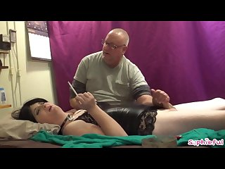 Brainwashed m2f slut Chain smokes while edged