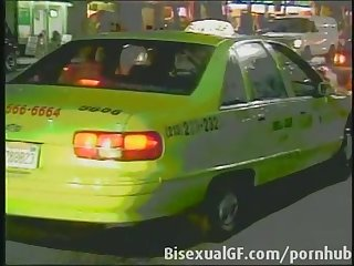 Two woman having sex in the cab