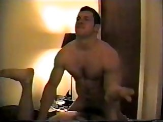 Muscle hairy cock and armpits fucks