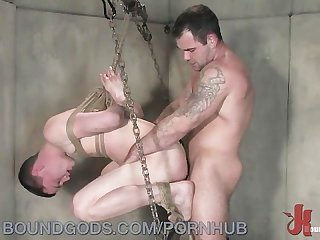 Bound patient gets fucked in the ass