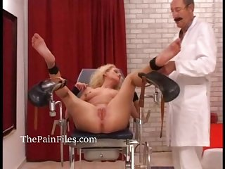 Amateur medical fetish and bdsm doctor pussy torturing enslaved submissive