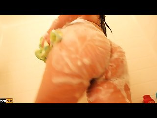 Shower time w daisy dabs Teaser latina sexy Showers scene soapy and wet