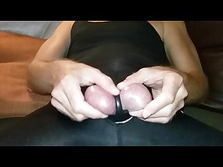 Rough ball abuse slap squeeze and pull stretched spread balls hard