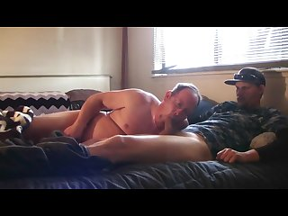 Real married dad redneck blowjob in wifes bed she sucked last night