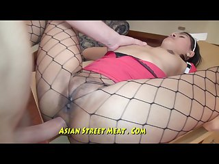 Seafood sweety buggered in silver asian leggings