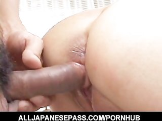 Naami hasegawa blindfoled kissed fingered and fucked by toys