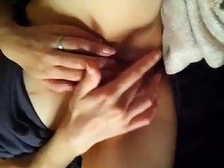 Horny japanese masturbate