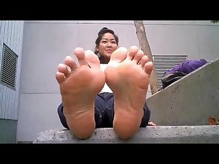 Css asian stinky soles out of flats