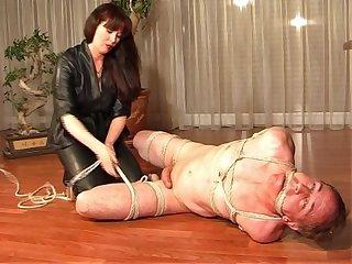 Femdom Shibari bondage milking