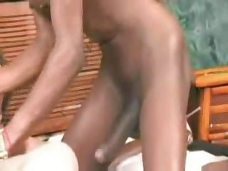 Black shemale naomi the black hammer fucks with lucky guy