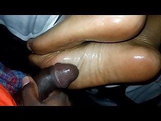 Ebony sole fucking