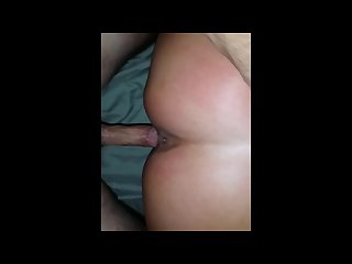 Milf riding dick doggie style turns into cream pie surprise anal