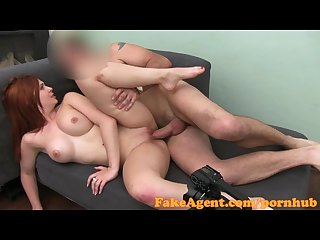 Fakeagent Hd fire kissed amateur takes creampie in casting