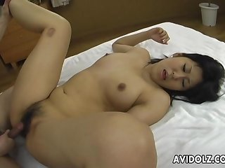 Asian big ass slut getting fucked in a sweet threesome