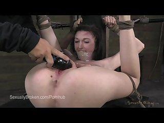 18 year old cums in bondage