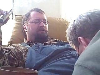 Cigar daddy top gets his cock sucked