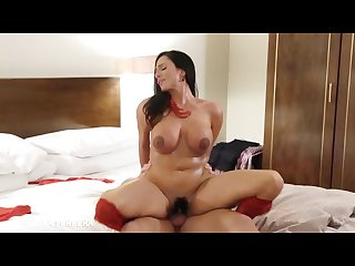 Hot gf ariella ferrera gets big jugs and feet fucked