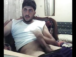 Turkish on cam strokin his tool