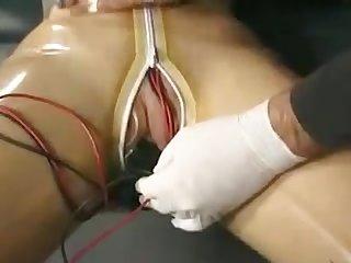 Bondage latex electro