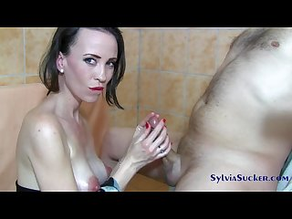 Sylvia chrystall oriental japanese majestic handjob titty fuck and cumplay