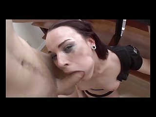 Dana dearmond gives a footjob and takes a guy s cock up the ass