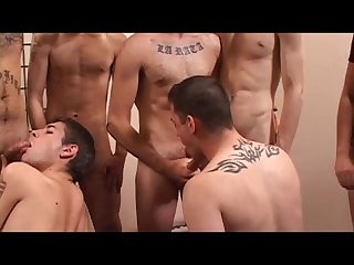 Gay bukkake party scene 2