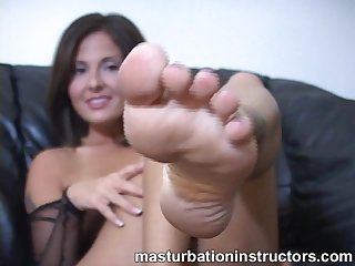 Mom foot tease
