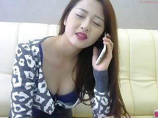 Asian angel masturbates on webcam 26