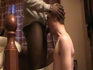 Grindr hookup sucking 18 year old black stranger