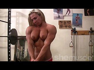 Musclebound milinda is so sexy