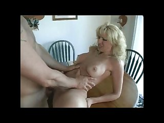 Amateur kitchen table fuck