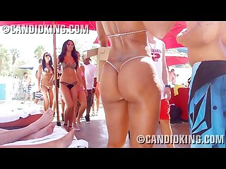 Amazing curves with thick booty in a g string thong bikini hd