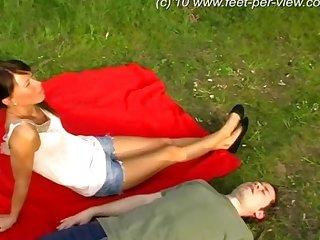 Feet mistress lick feet