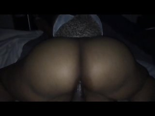 Big ass gf rides dick