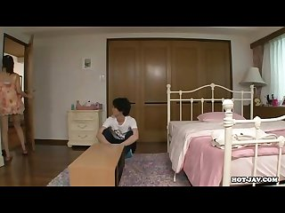 Japanese girls enchant seductive mother at hotel avi