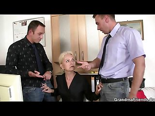 Two Co owners bang hot lady