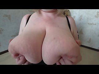 Daughter with a strap on fucks a milf with huge tits shaking tits pov