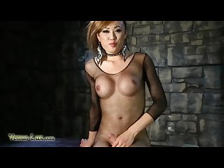 Ts venus lux gets pounded deep in the ass by a sex machine