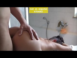 Huge tits mom sucks and fucks in the bathroom