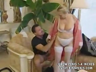 Beautiful german cleaner granny gets anal by young boss