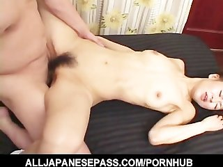 horny mature babe in a kimono has her pussy fingered and fucked