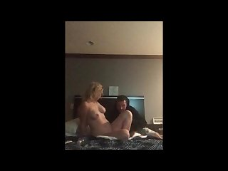 Cheating girlfriend gets fucked in hotel room