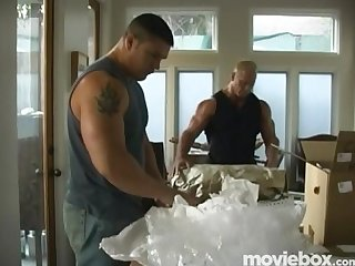 Muscle men moving compangy scene 2