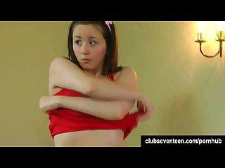 Brunette teen selsa finger her hairy pussy
