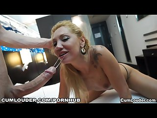 Slutty bitch loves riding a huge dick