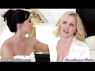 Sweetheart milf lesbian makeup sex