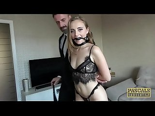 PASCALSSUBSLUTS - Lady Bug gagging on cock before rough anal