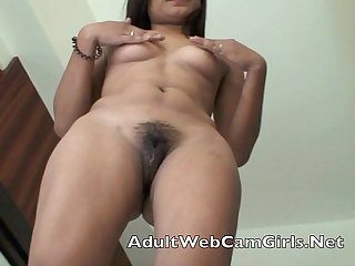 Asian filipina period webcam chat girl gets naked and shows her wet pussy